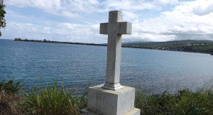 This cross marks a spot near Port Antonio, Jamaica, where Christopher Columbus first landed on the island on May 5, 1494.