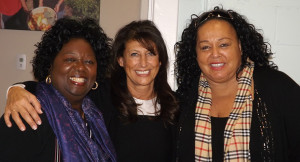 Former MP Jean Augustine, with Connie Dejak, CEO of Runnymede Healthcare Centre and legendary Toronto singer Liberty Silver at an event to mark International Women's Day in Etobicoke.